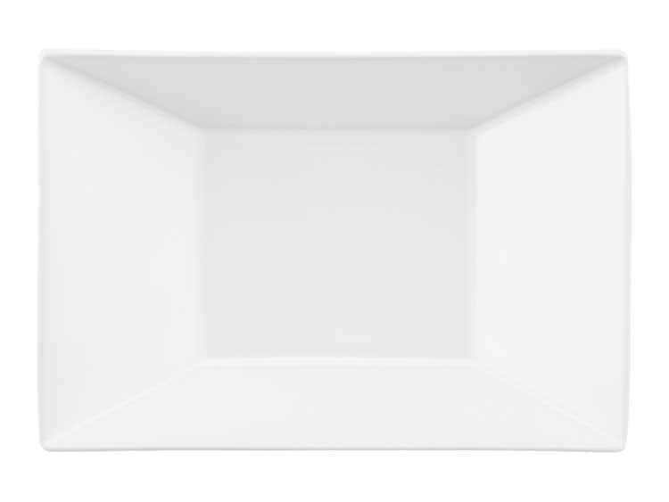 Набор глубоких тарелок Oxford белый квадрат 23 см (6 шт)