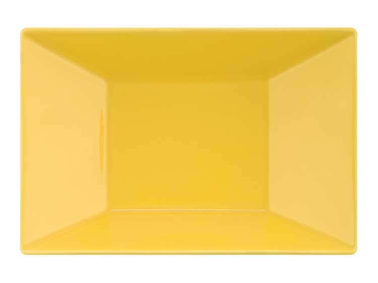 Набор глубоких тарелок Oxford желтый квадрат 23 см (6 шт)