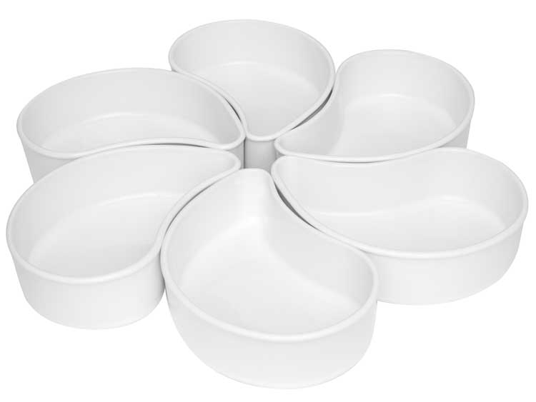 Набор для закусок Oxford белый 6 предметов