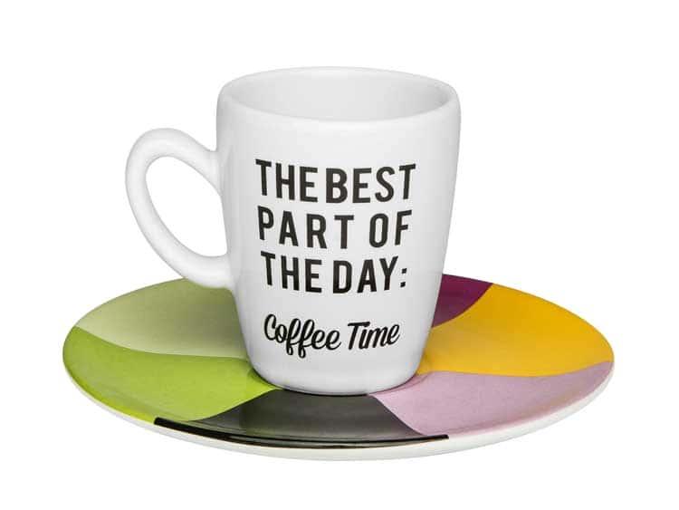 Набор кофейный для эспрессо Oxford Coffe Time на 6 персон (6 чашек + 6 блюдец)