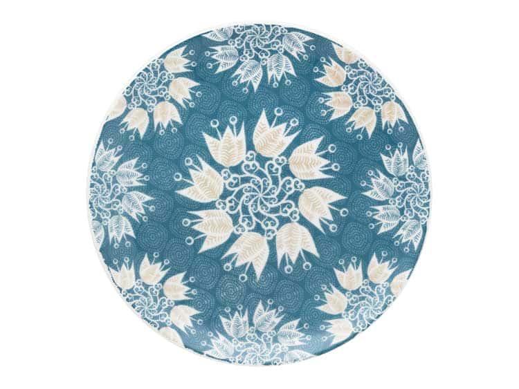 Набор тарелок Oxford голубые цветы 21 см (6 шт)