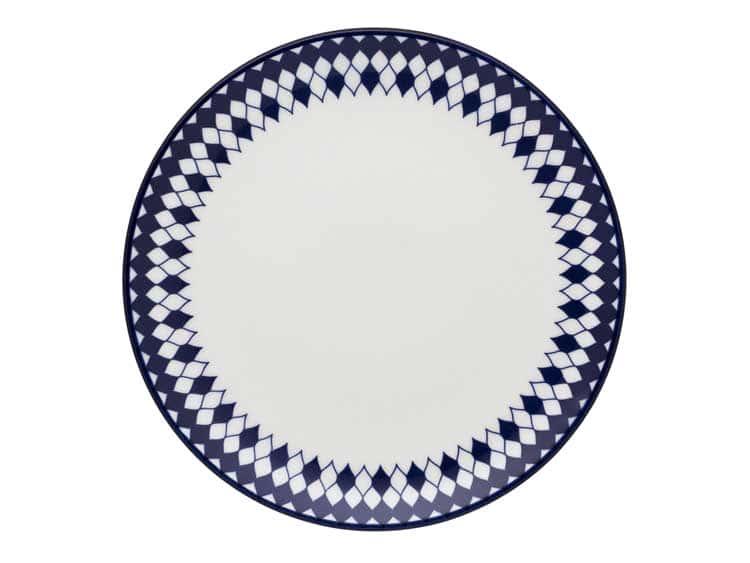 Набор тарелок Oxford синие ромбы 21 см (6 шт)