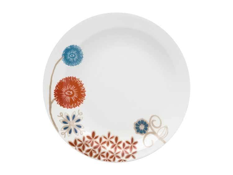 Набор тарелок Oxford узор цветы 22 см (6 шт)