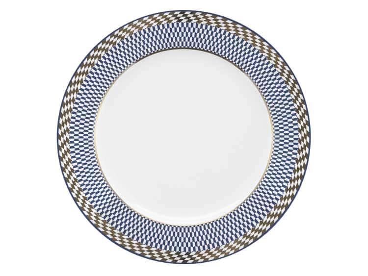 Набор тарелок Oxford синий узор 22 см (6 шт)