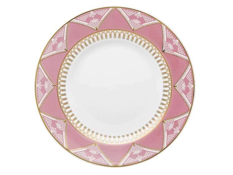 Набор тарелок Oxford розовый узор 22 см (6 шт)