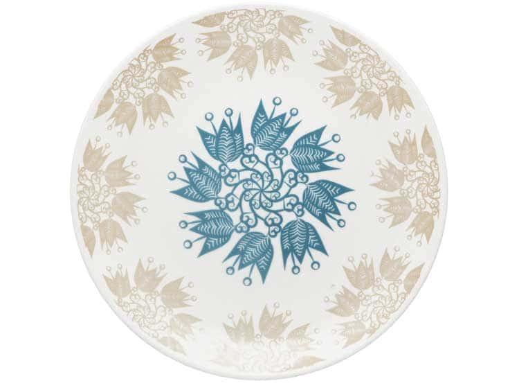 Набор тарелок Oxford голубые цветы 27 см (6 шт)