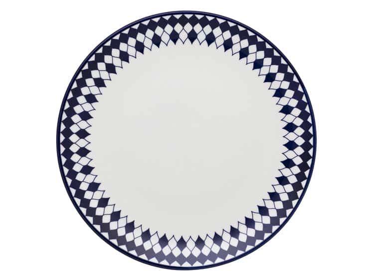 Набор тарелок Oxford синие ромбы 27 см (6 шт)