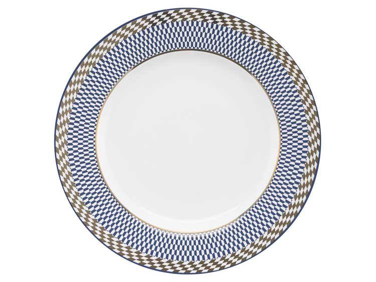 Набор тарелок Oxford синий узор 28 см (6 шт)