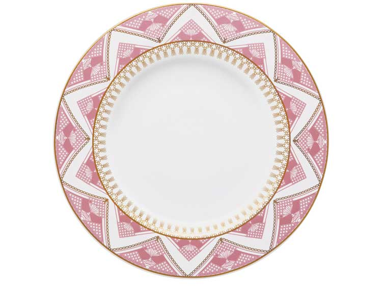 Набор тарелок Oxford розовый узор 28 см (6 шт)