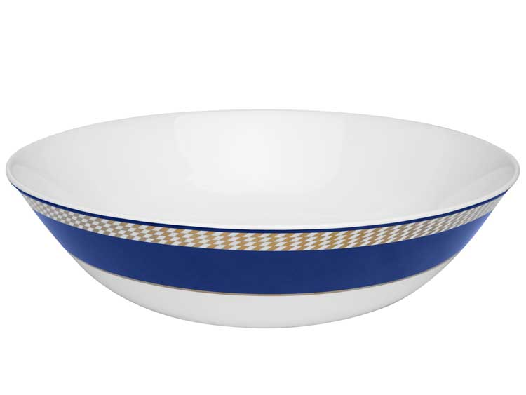 Салатинк Oxford синий узор 26 см (1 шт)