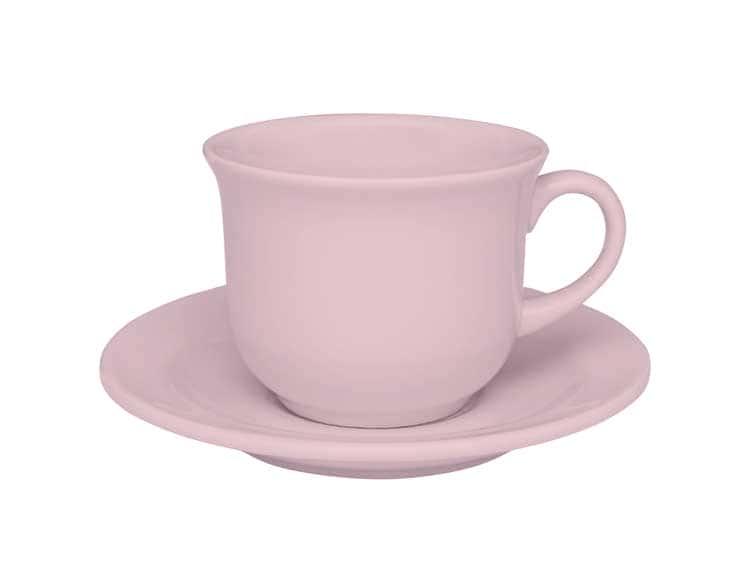 Чайная пара (чашка + блюдце) Oxford розовый 200 мл