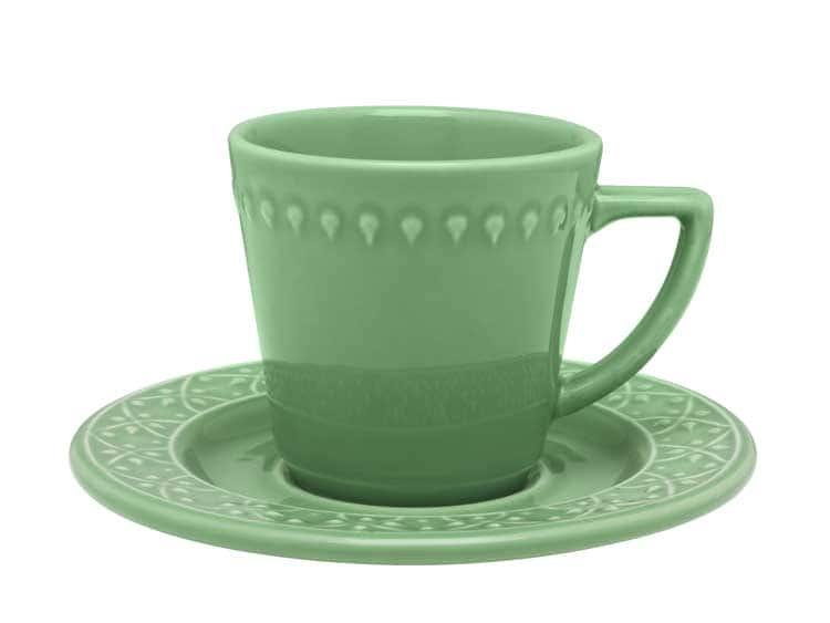 Чайная пара (чашка + блюдце) Oxford зеленый 220 мл