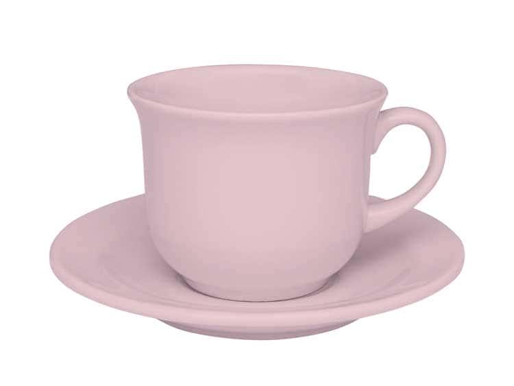 Чайный набор Oxford розовый 12 предметов (6 чашек + 6 блюдец) 200 мл