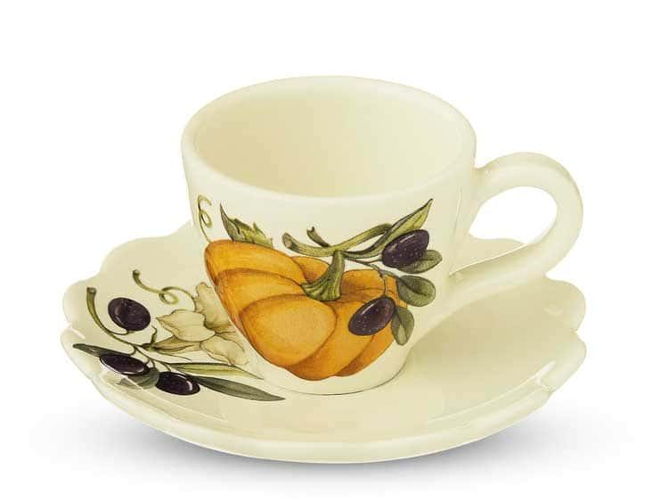 Набор кофейных пар Тыква Nuova Cer 6 чашек + 6 блюдец 12 предметов