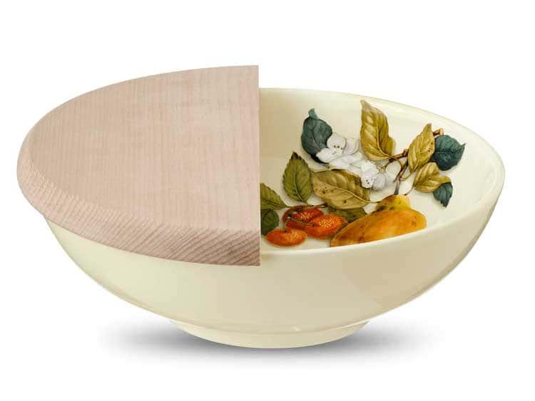 Набор салатник с разделочной доской Груша Nuova Cer 2 предмета