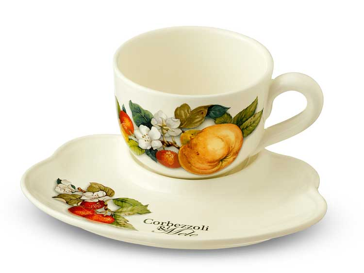 Набор чашка с блюдцем Груша Nuova Cer 2 предмета