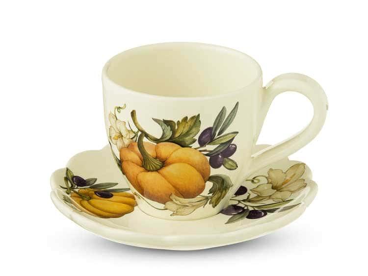 Набор чашка с блюдцем Тыква Nuova Cer 2 предмета