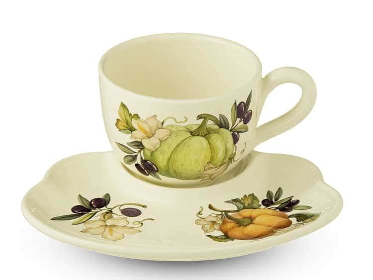 Набор Тыква Nuova Cer чашка с блюдцем 2 предмета