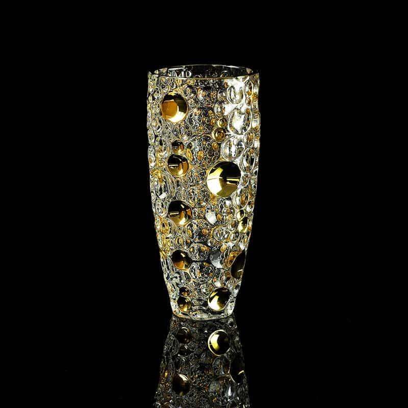 DECOR Ваза H33 см, хрусталь/декор золото 24К