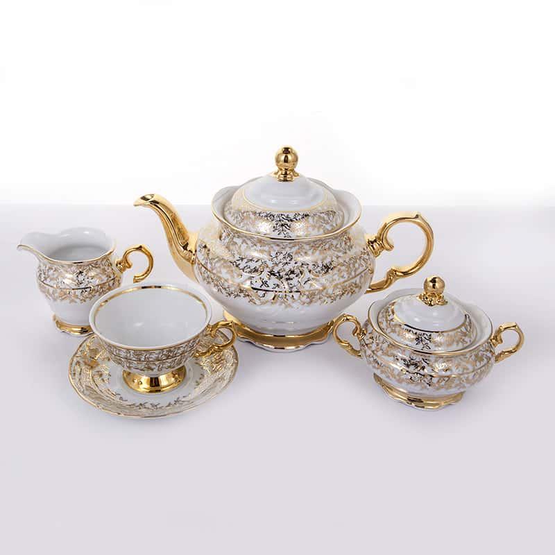 Лист белый Чайный сервиз на 6 перс. 15 пред. Carlsbad