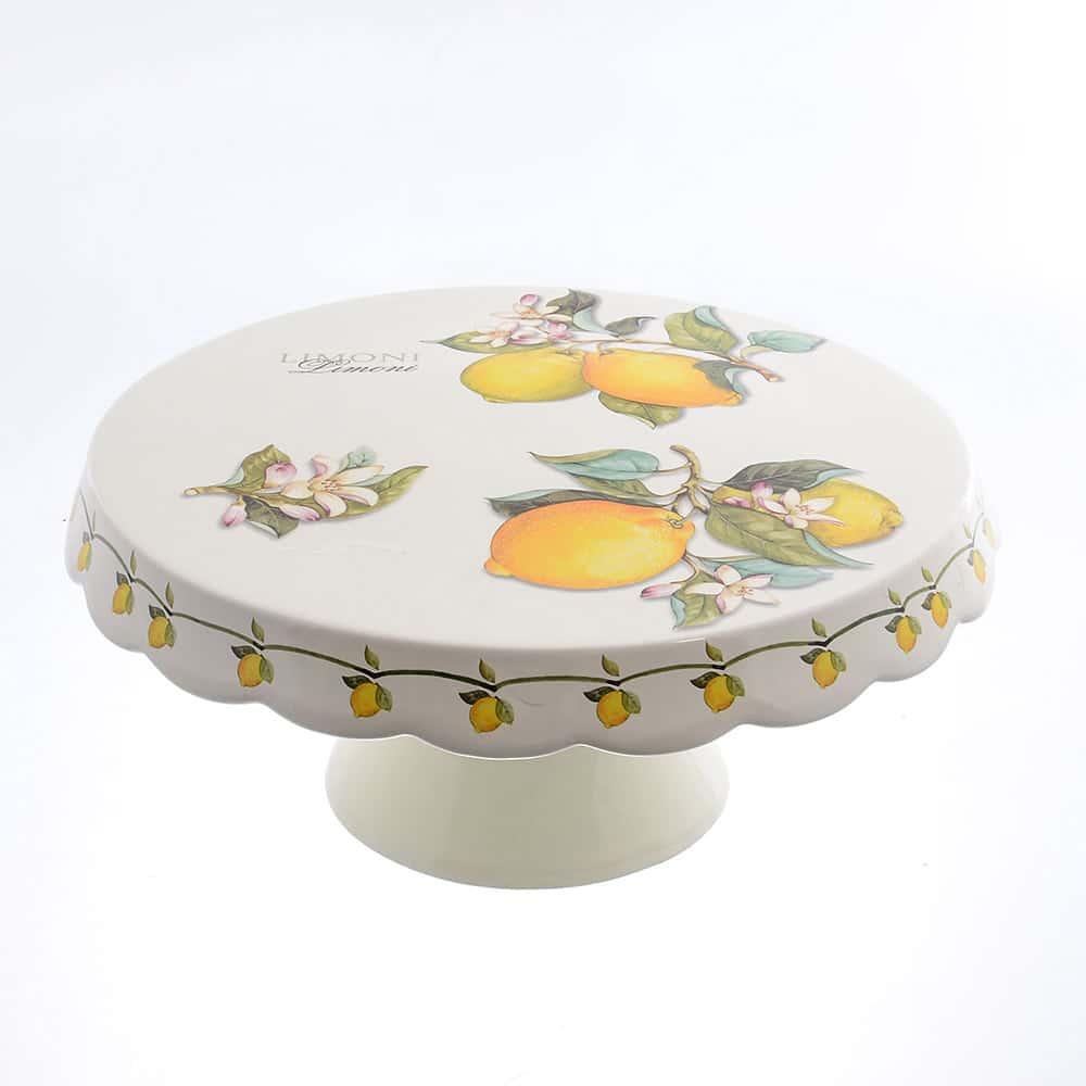 Блюдо для торта 32см Лимоны Caroline Artigianato