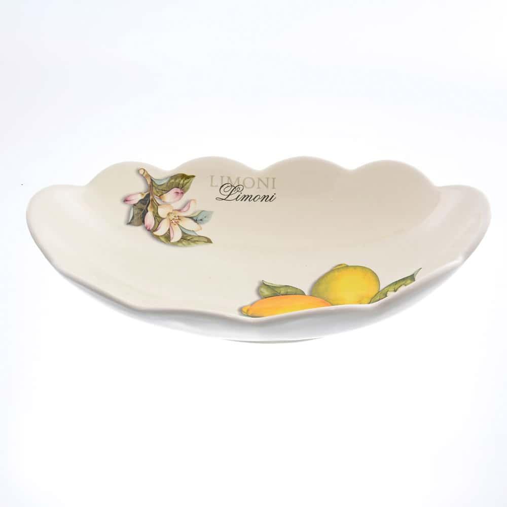 Блюдо овальное 30см Лимоны Caroline Artigianato