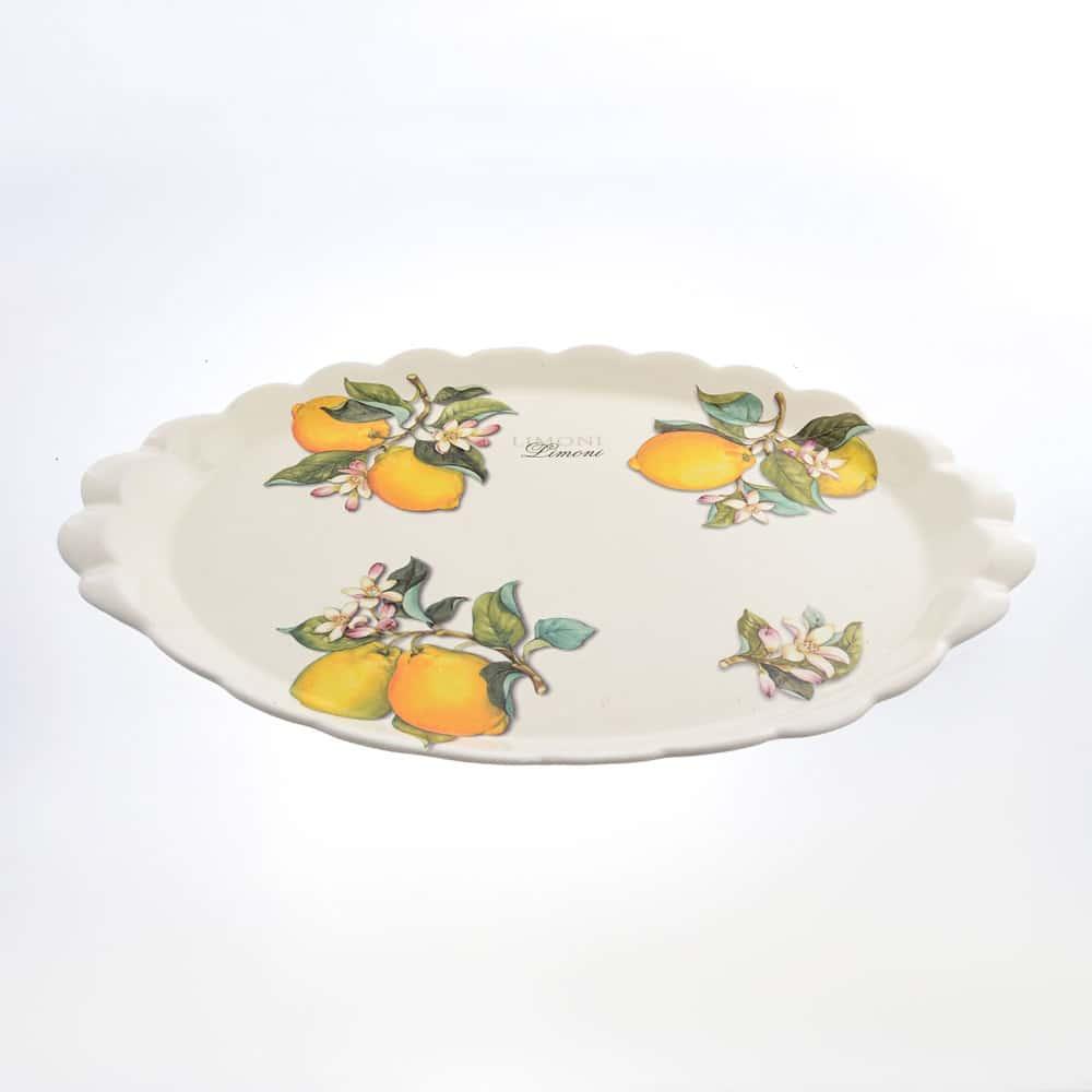 Блюдо овальное 48см Лимоны Caroline Artigianato