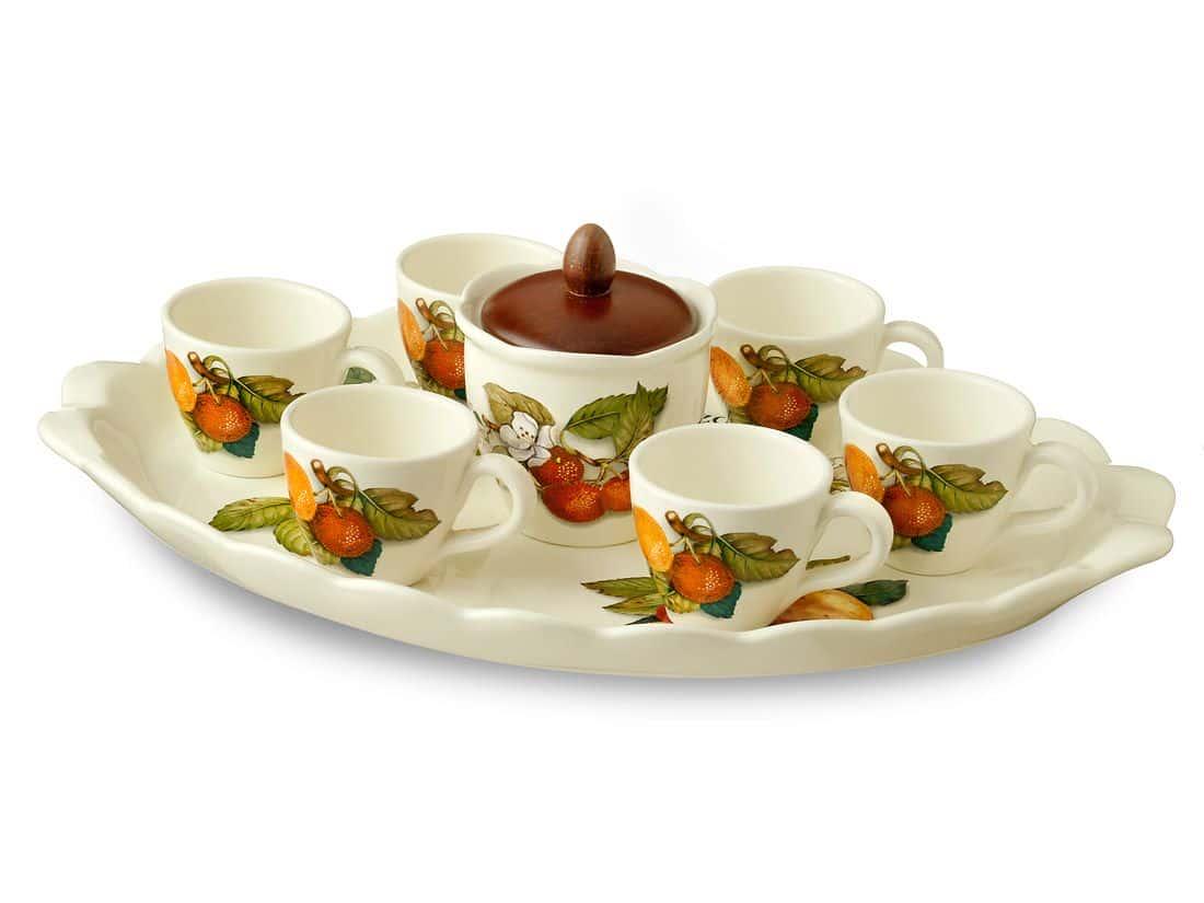 Кофейный сервиз Груша Caroline Artigianato Ceramico 9 предметов