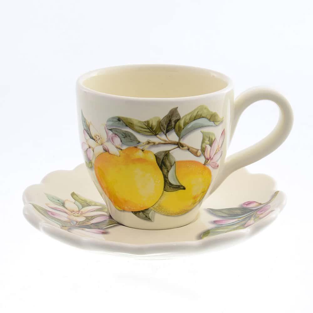 Набор чайный Лимоны Caroline Artigianato 2 предмета