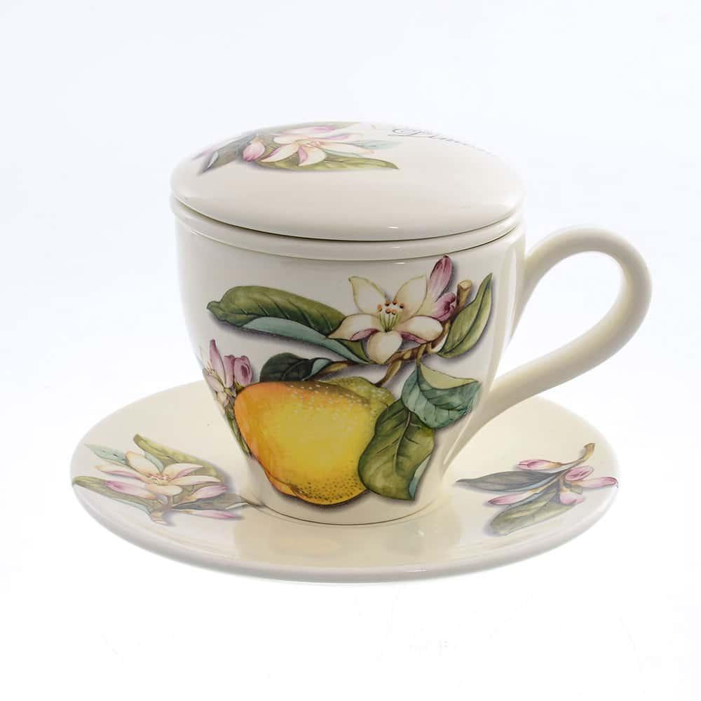 Набор чайный Лимоны Caroline Artigianato 2 предмета 41506
