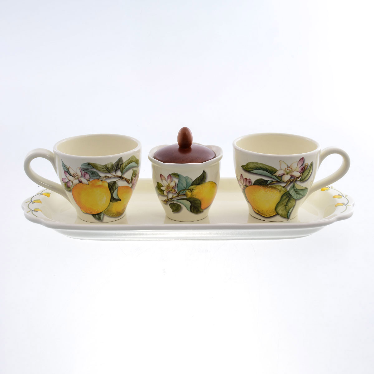 Чайный сервиз Лимоны Caroline Artigianato 5 предметов