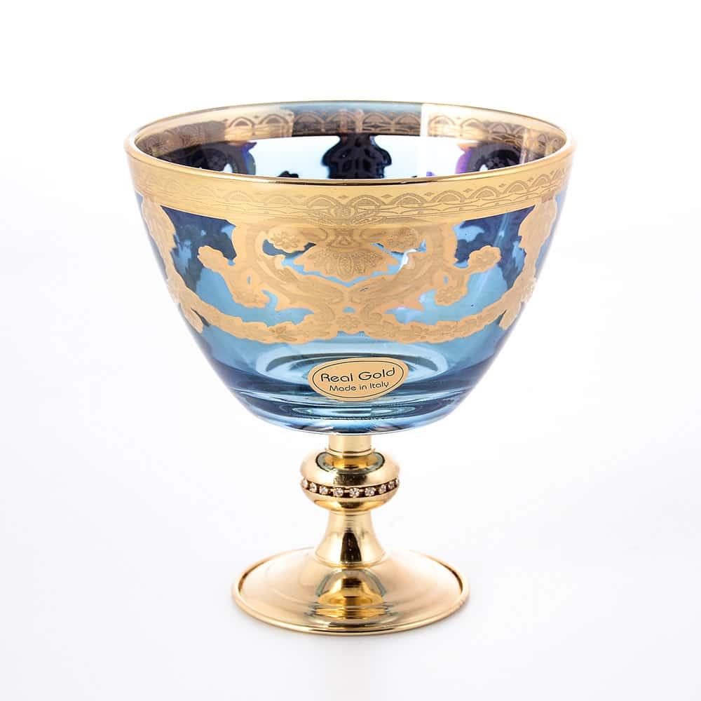 Конфетница в.13см, д.12см Veneziano Blu Art Decor Veneziano