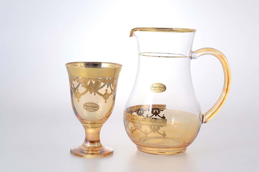 Набор для сока Art Decor желтый 7 предметов