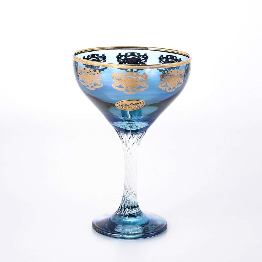 Набор фужеров для шампанского 230 мл Art Decor синие