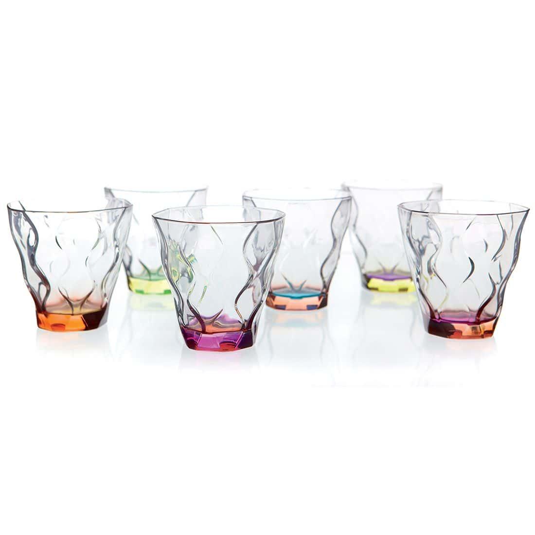Набор стаканов для виски цветные 300 мл Riflessi Bicolour RCR