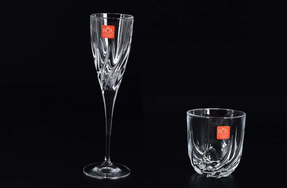 Набор фужер и стакан Trix RCR 2 предмета
