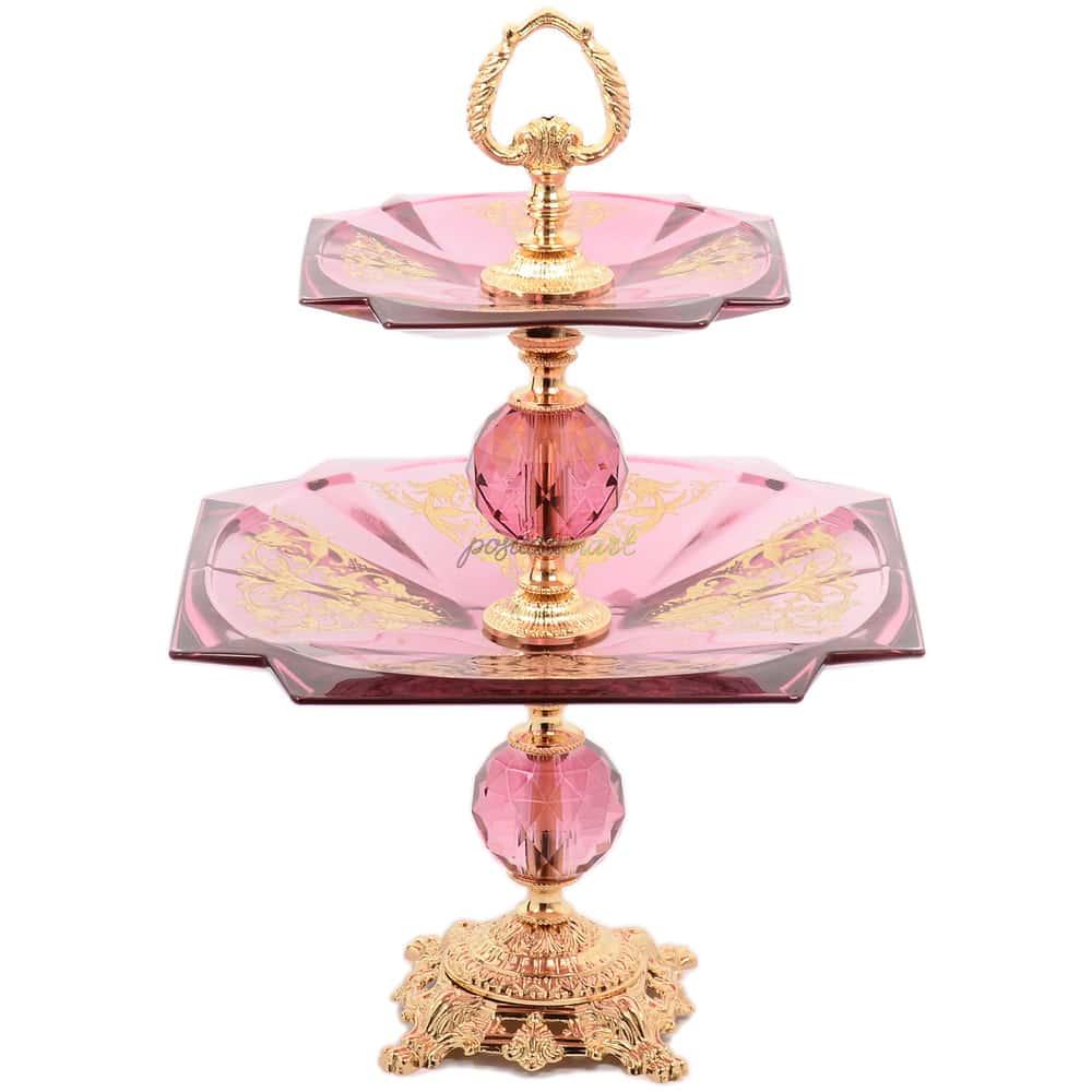 Горка двойная на ножке Rosaperla розовая