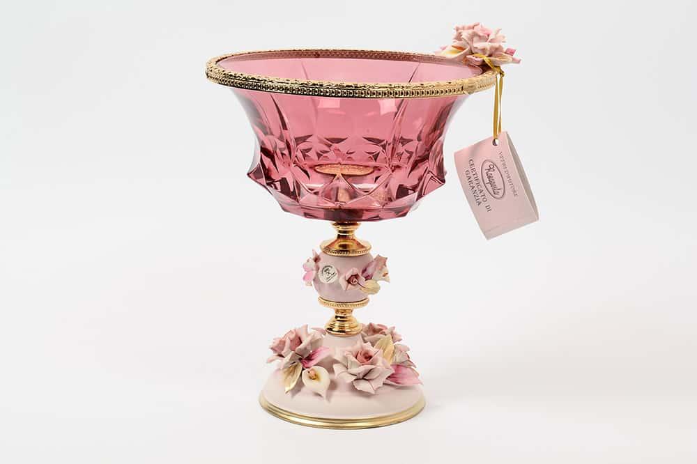 Конфетница 21,5 см Rosaperla розовая