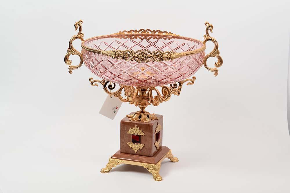 Фруктовница 27 см Rosaperla розовая