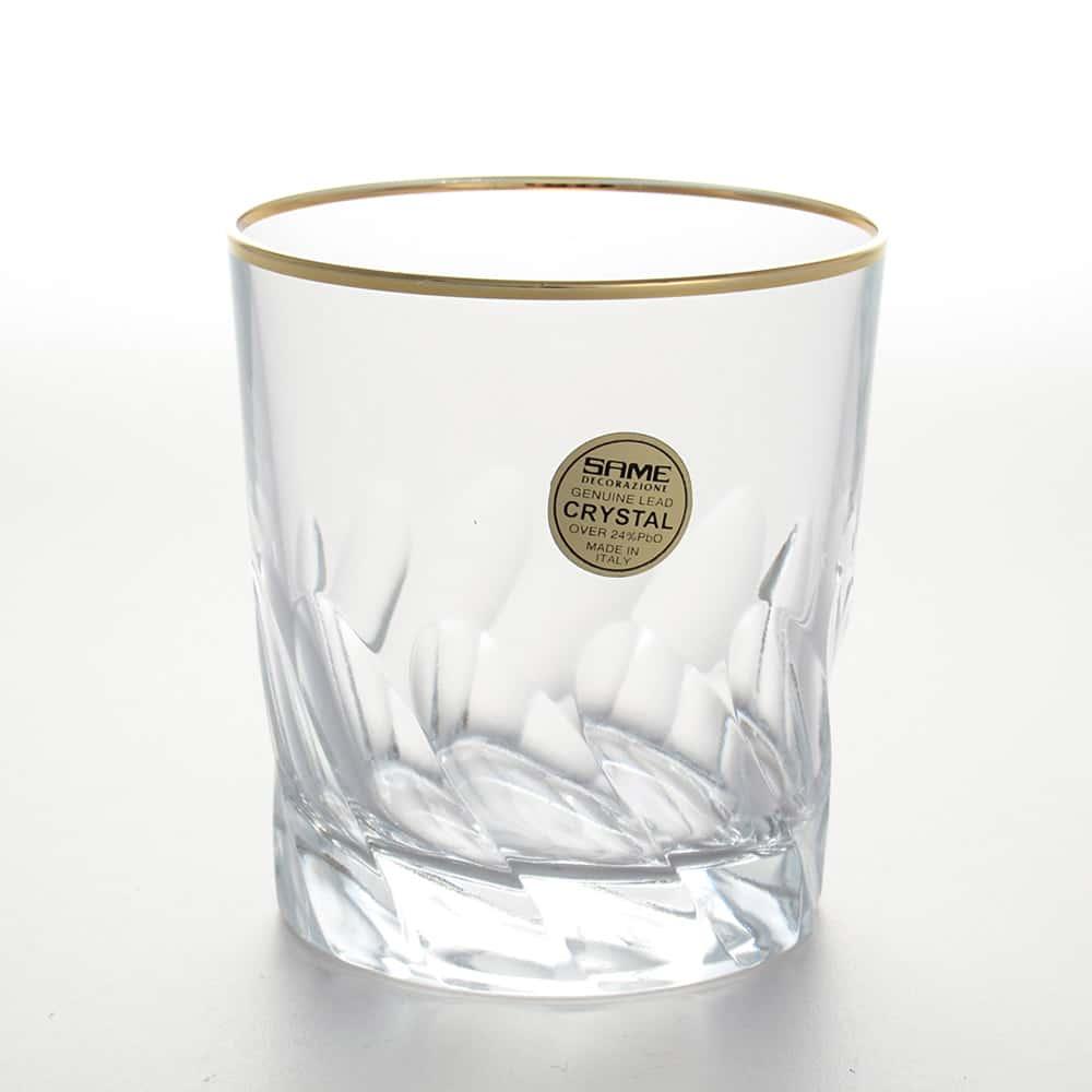 Набор стаканов для виски 300 мл Палермо золото Same Decorazione