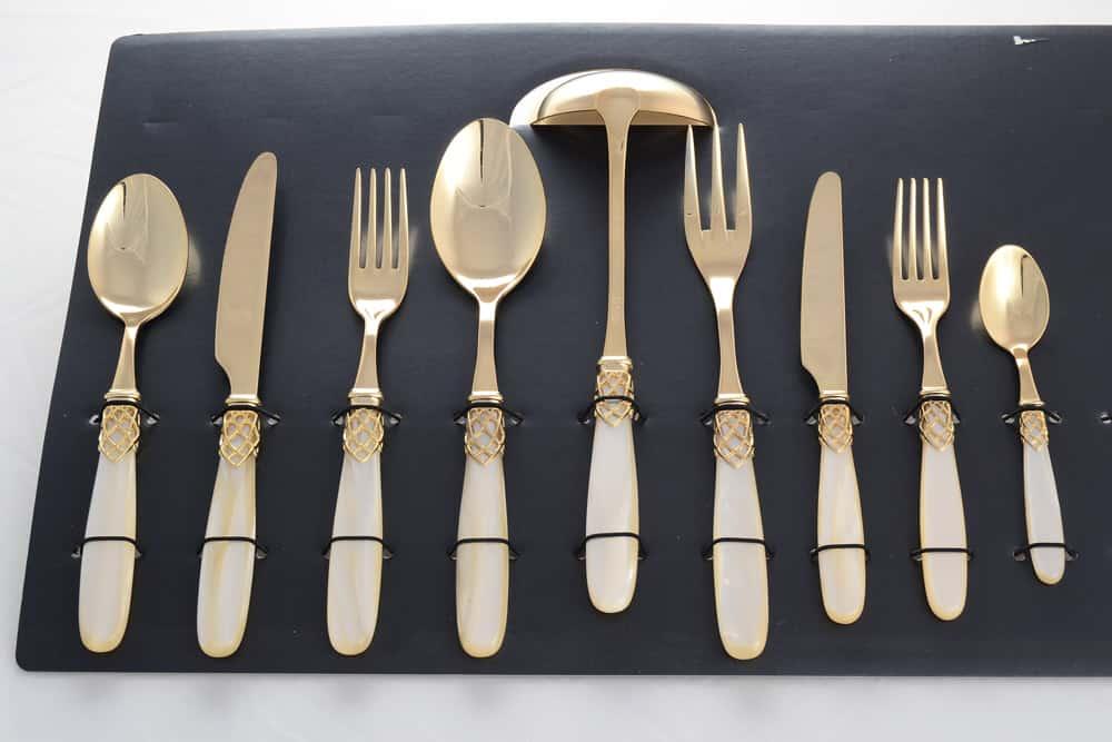 Набор столовых приборов FRANCE GOLD DOMUS DESIGN жемчужный