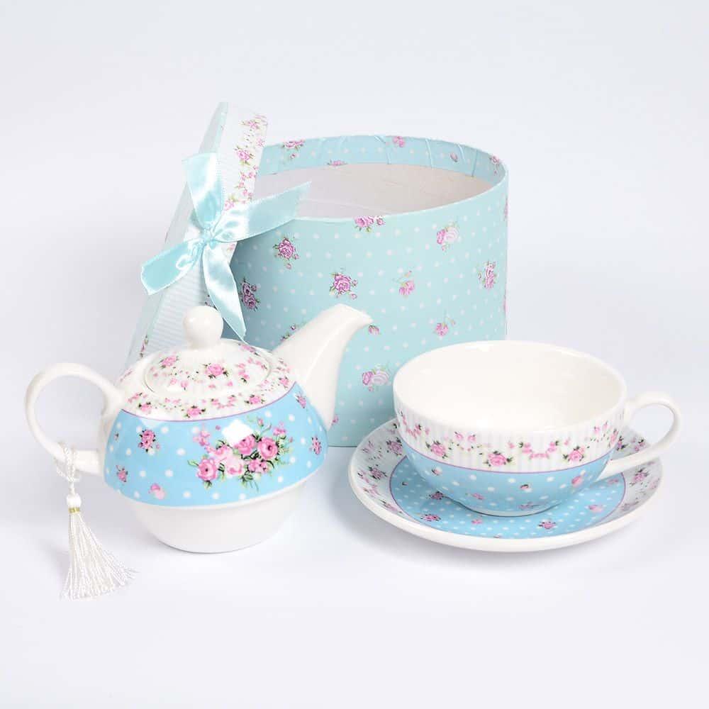 Набор чайный голубой Royal Classics