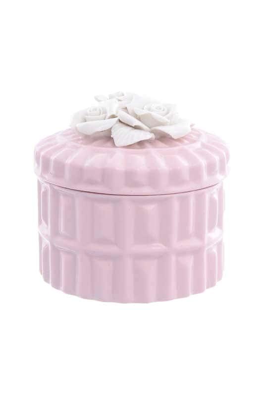 Шкатулка с крышкой Royal Classics розовая цилиндр