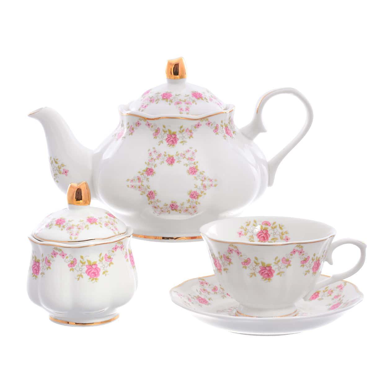 Чайный сервиз Мелкие цветы Royal Classics 14 предметов