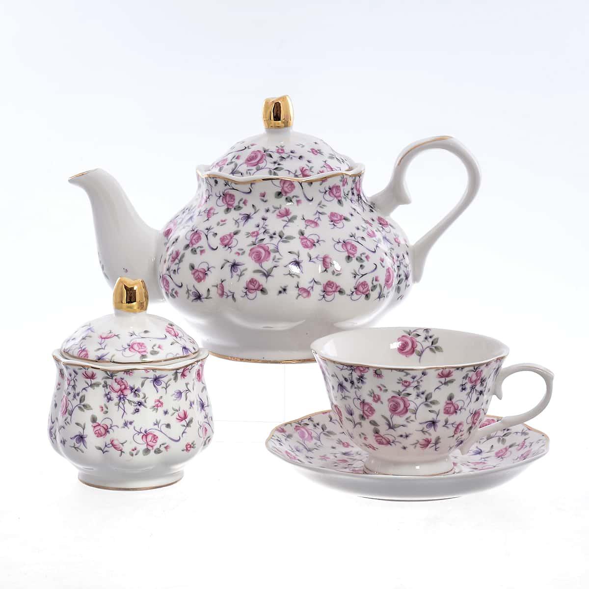 Чайный сервиз Мелкие розы Royal Classics 14 предметов
