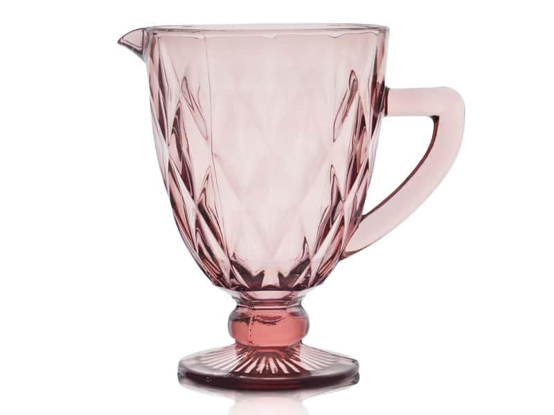 Графин розовый Ромб Royal Classics на ножке