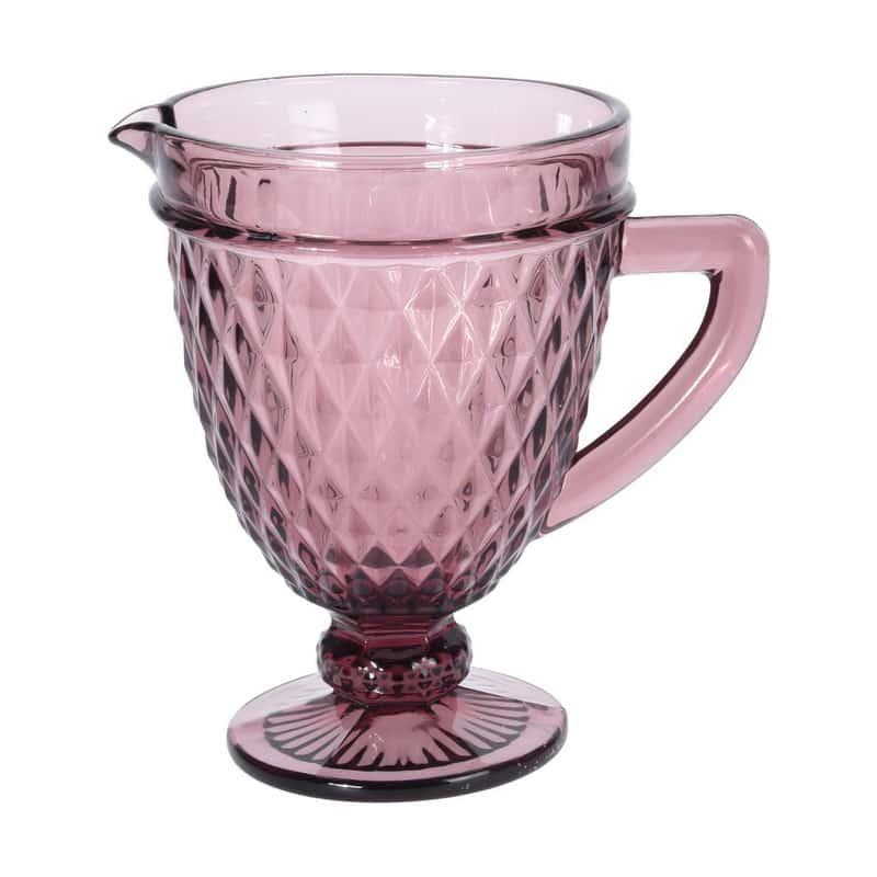Графин Ромб Royal Classics розовый на ножке
