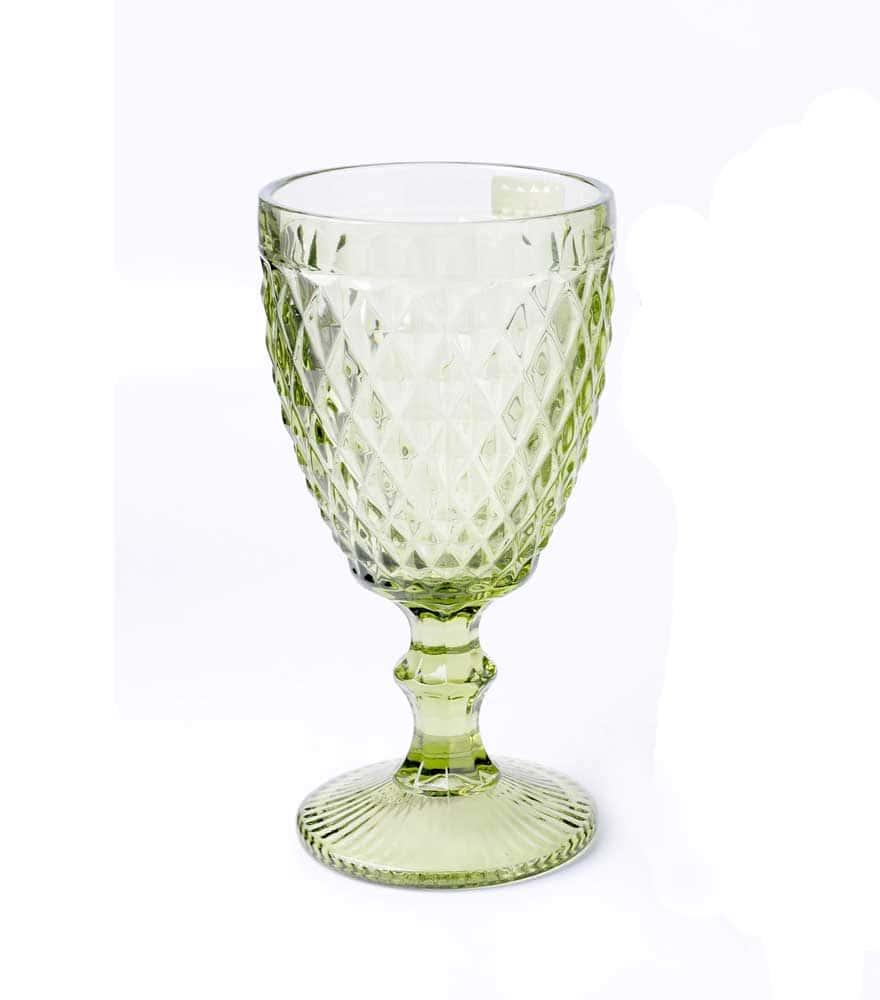 Набор бокалов для вина зеленый Royal Classics 6 шт.