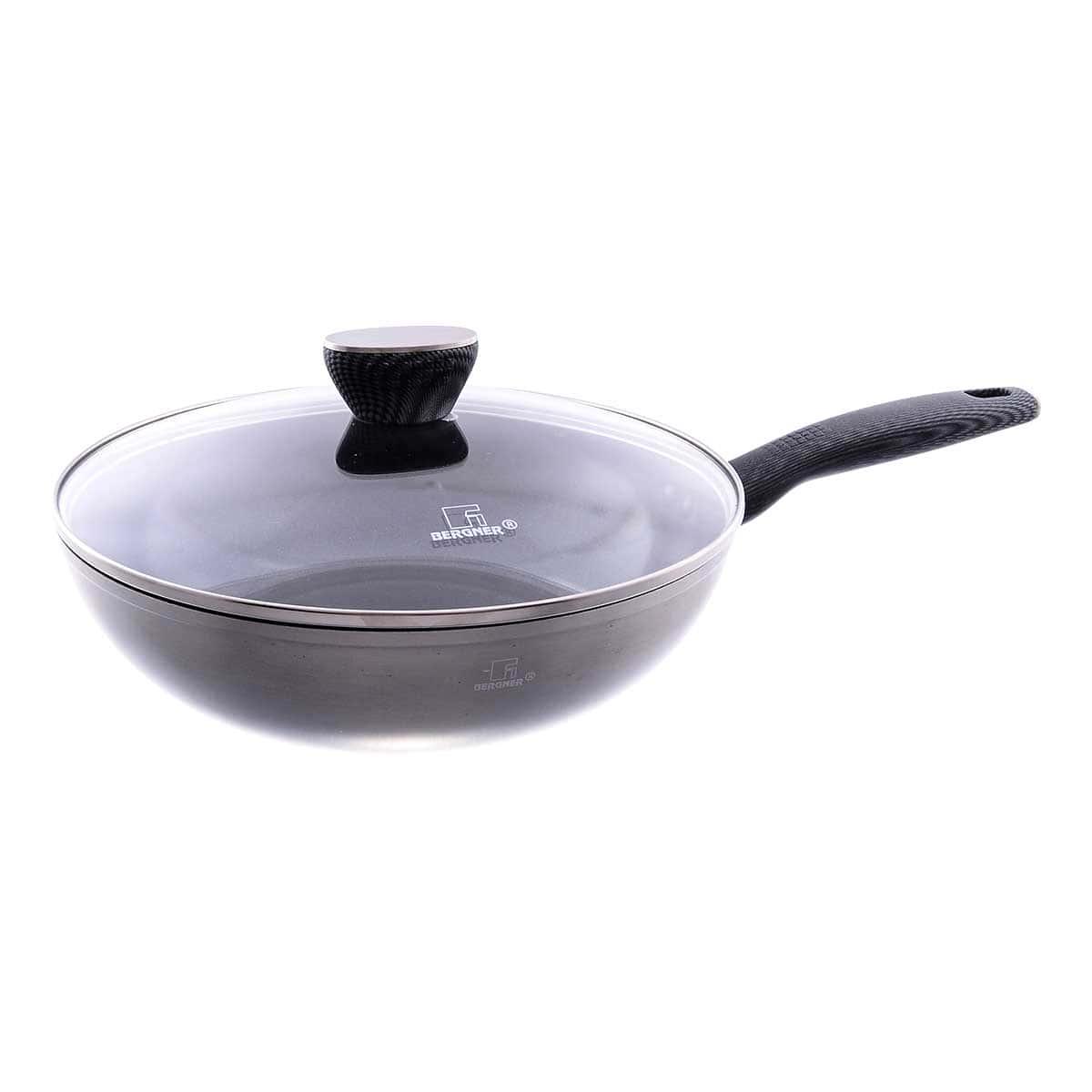 Сковорода вок с крышкой Whitford Fusion Carbon Ø28 h=8.0см