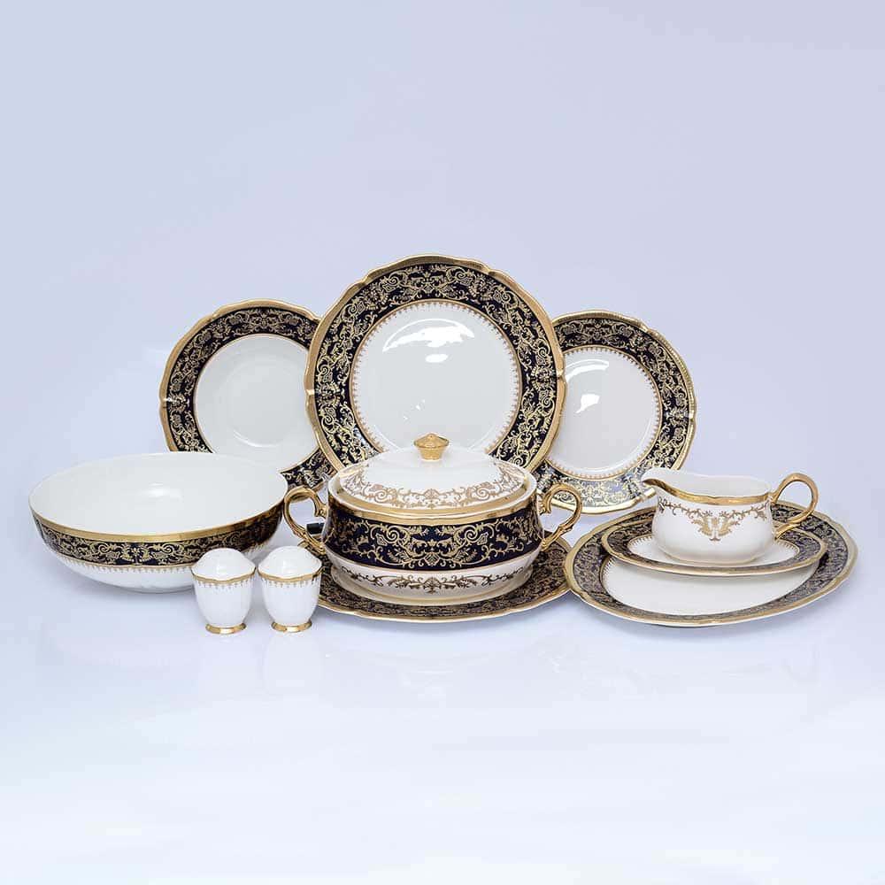 Столовый сервиз CLARICE COBALT GOLD Prouna на 6 персон 27 предметов